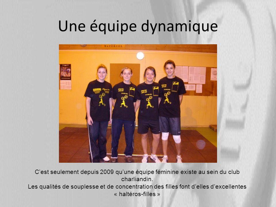 Une équipe dynamique Cest seulement depuis 2009 quune équipe féminine existe au sein du club charliandin.