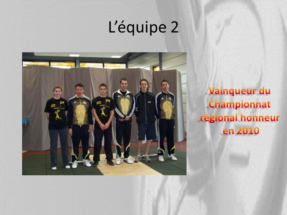 Les équipes jeunes Léquipe junior 5 e en 2009