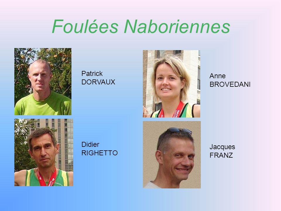 Foulées Naboriennes Pierre ANTHOINE Valentin LECOMTE Valentin CAMPIGOTTO Daniel Thiry Assesseur