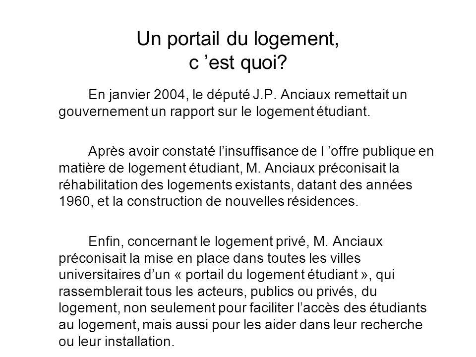 Pour un « portail du logement étudiant » à Montpellier Comment résoudre la crise du logement? Comment aider les étudiants dans leur recherche et leur