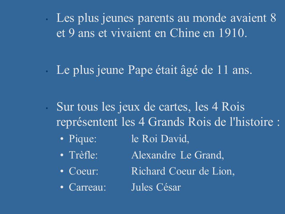 Les plus jeunes parents au monde avaient 8 et 9 ans et vivaient en Chine en 1910.