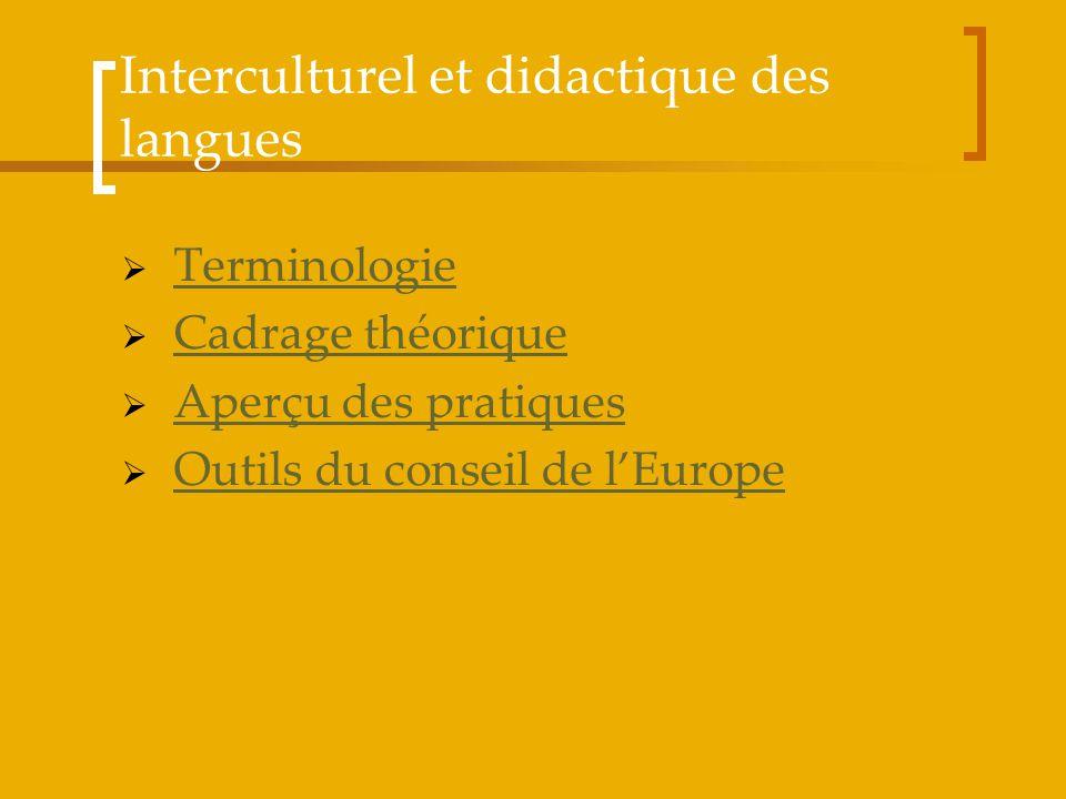 Terminologie Cadrage théorique Aperçu des pratiques Outils du conseil de lEurope