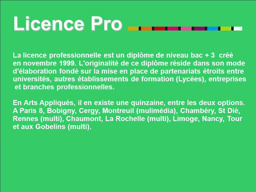 Licence Pro La licence professionnelle est un diplôme de niveau bac + 3 créé en novembre 1999. L'originalité de ce diplôme réside dans son mode d'élab