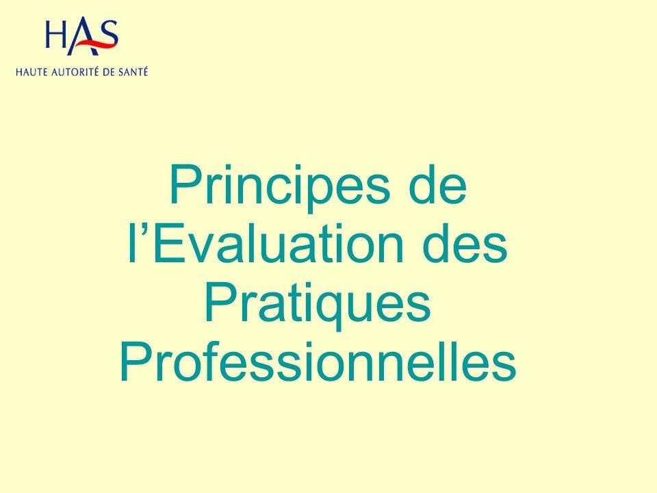 Principes de lEvaluation des Pratiques Professionnelles