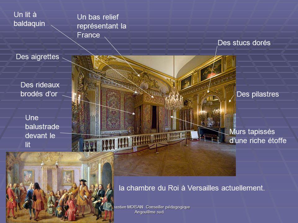 Sébastien MOISAN Conseiller pédagogique Angoulême sud Nicolas COUSTOU, groupe en plâtre doré décorant le centre de lalcôve.
