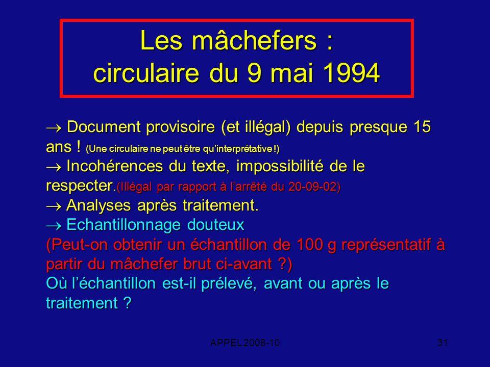 APPEL 2008-1031 Document provisoire (et illégal) depuis presque 15 ans .