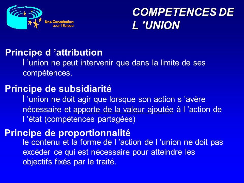 COMPETENCES DE L UNION le contenu et la forme de l action de l union ne doit pas excéder ce qui est nécessaire pour atteindre les objectifs fixés par