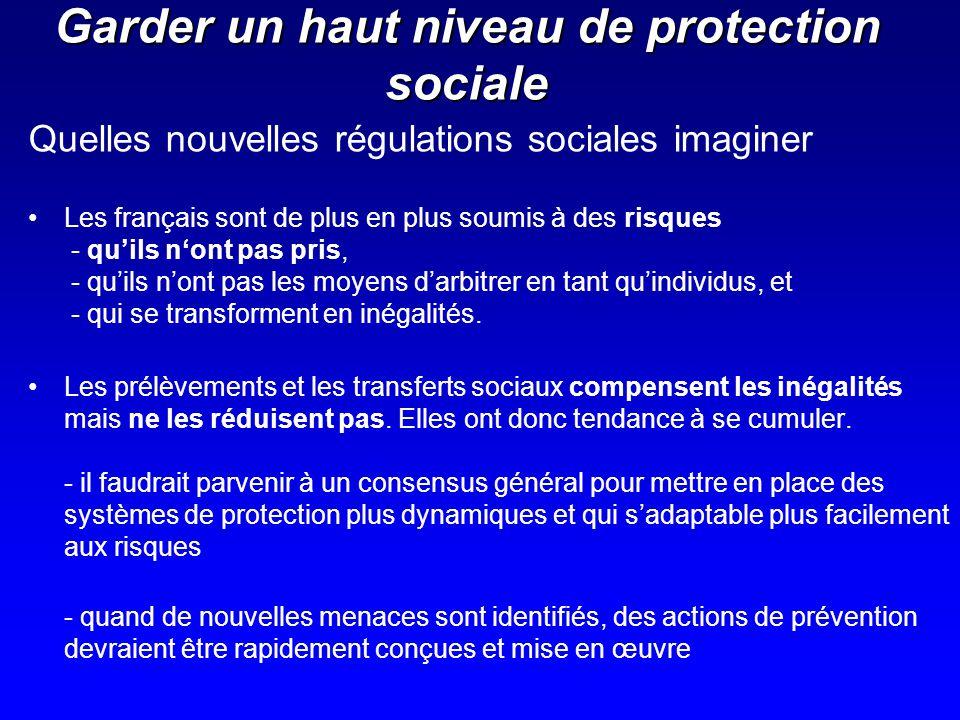 Quelles nouvelles régulations sociales imaginer Les français sont de plus en plus soumis à des risques - quils nont pas pris, - quils nont pas les moy