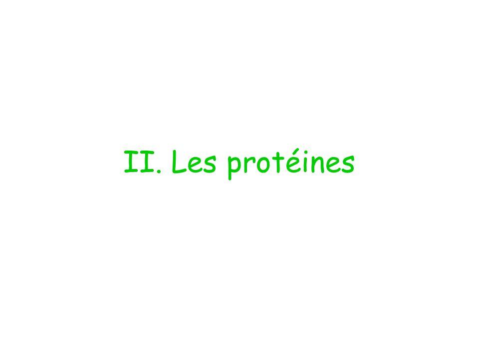 II. Les protéines