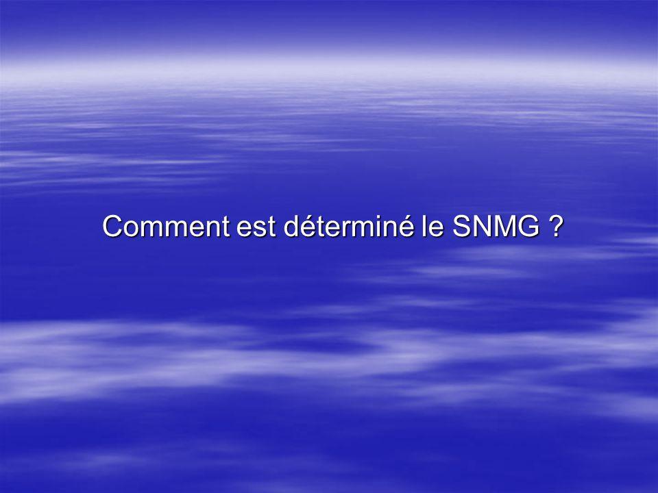 Comment est déterminé le SNMG ? Comment est déterminé le SNMG ?