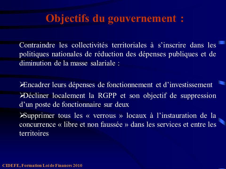 Quelle traduction dans la Loi de Finances 2010 .