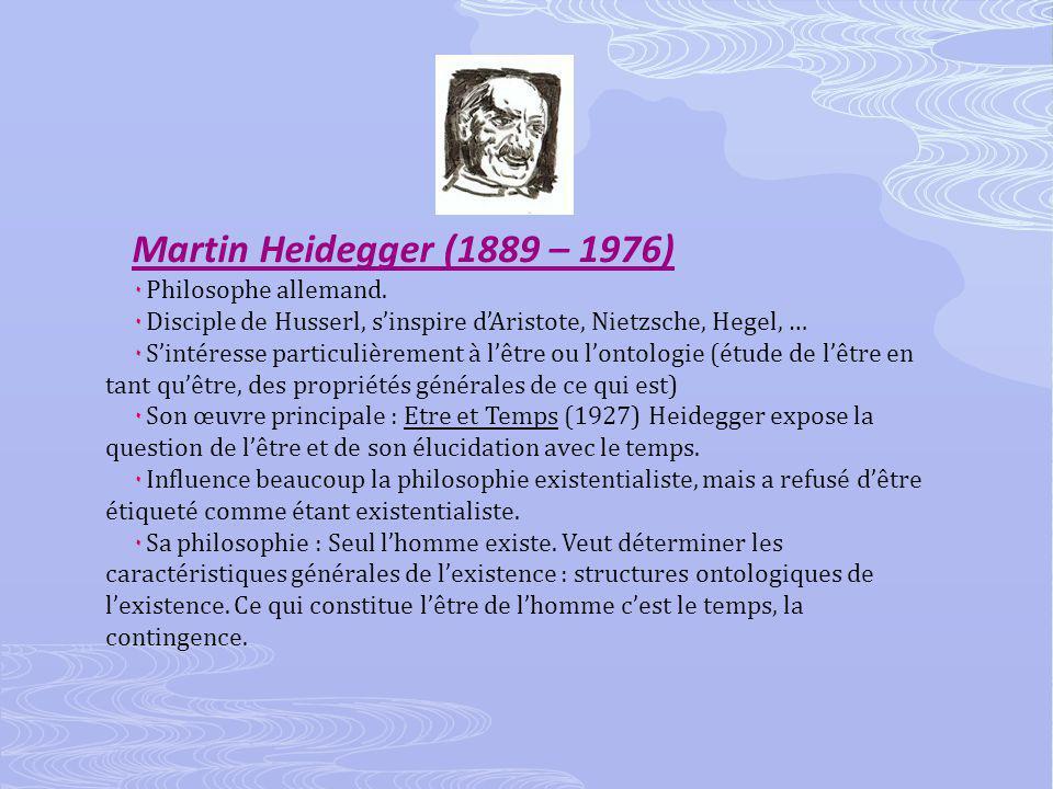 Martin Heidegger (1889 – 1976) ۰ Philosophe allemand.