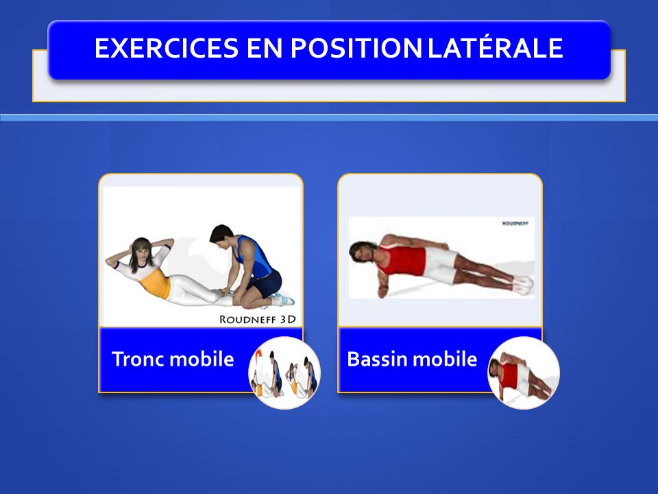 EXERCICES EN POSITION LATÉRALE Tronc mobileBassin mobile