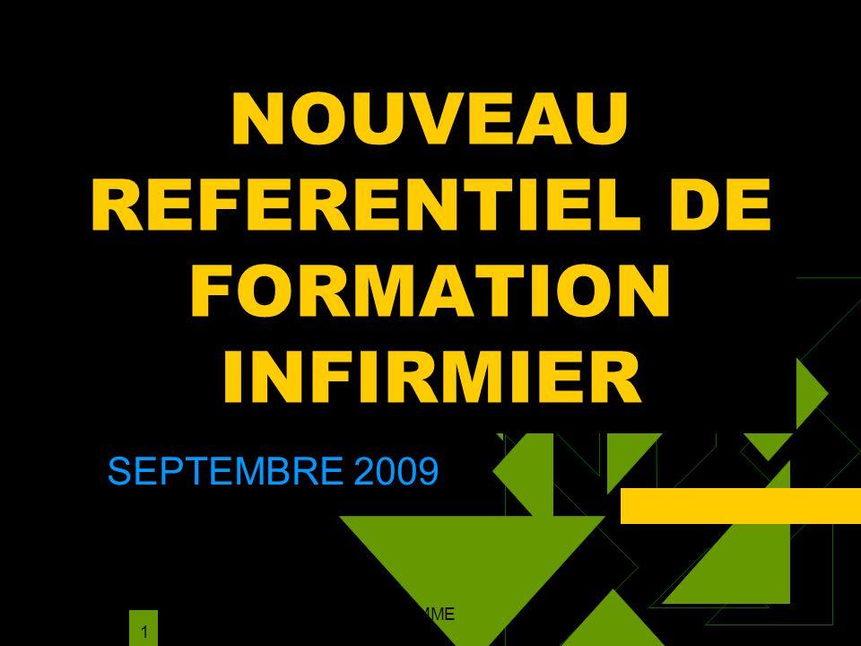 NMARIANI NOUVEAU PROGRAMME INFOS ETABLISSEMENTS;pp 1 NOUVEAU REFERENTIEL DE FORMATION INFIRMIER SEPTEMBRE 2009