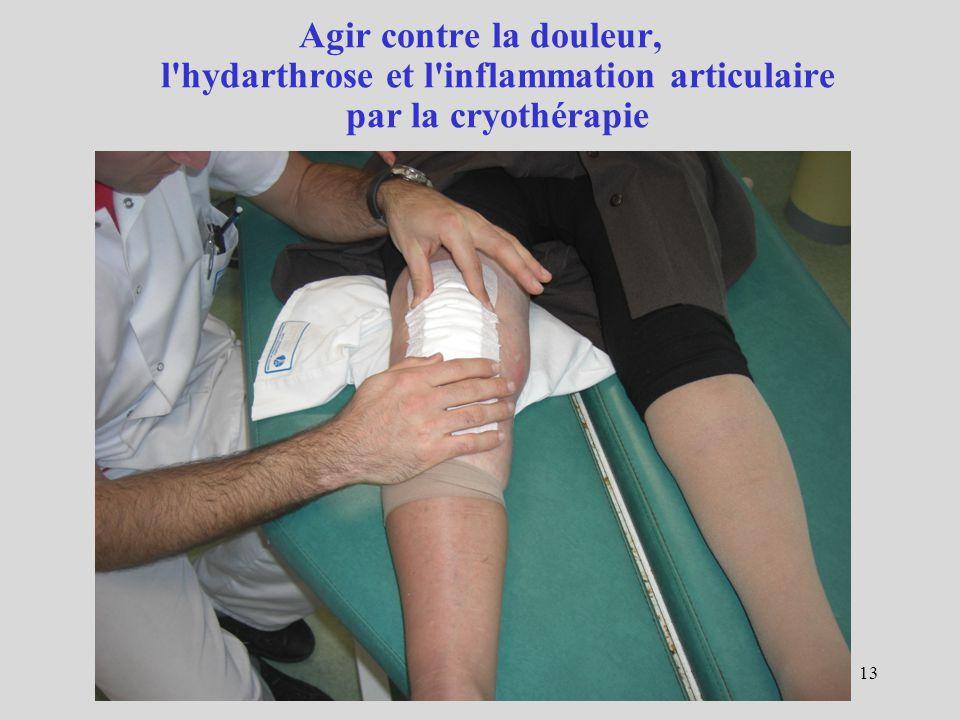 13 Agir contre la douleur, l'hydarthrose et l'inflammation articulaire par la cryothérapie