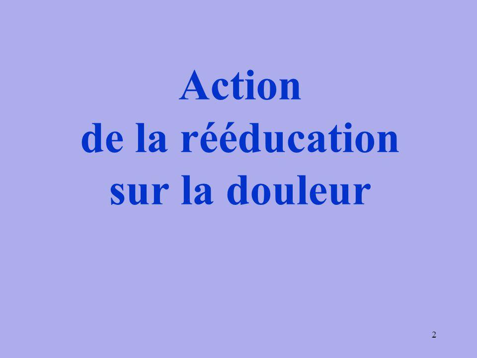 Action de la rééducation sur la douleur 2