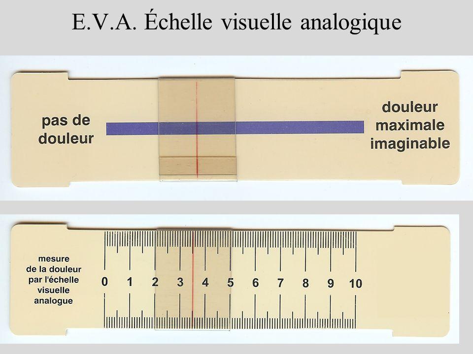 5 E.V.A. Échelle visuelle analogique