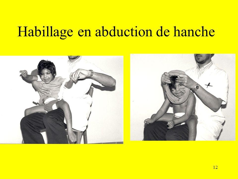 Habillage en abduction de hanche 12