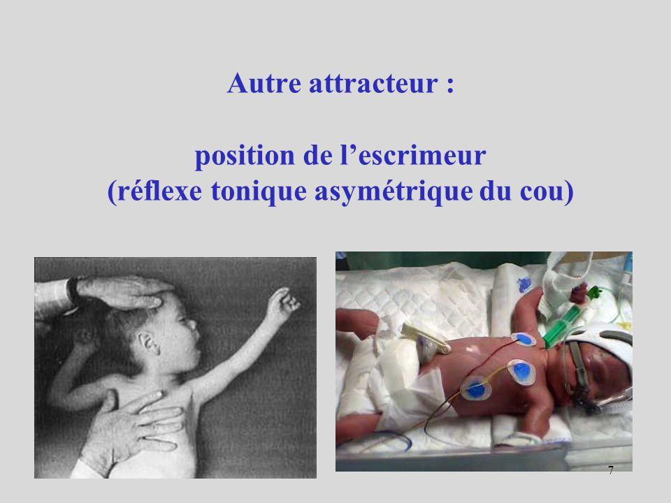 Autre attracteur : position de lescrimeur (réflexe tonique asymétrique du cou) 7