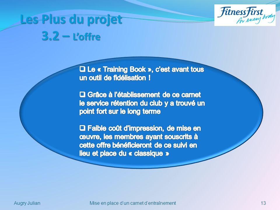 13Mise en place dun carnet dentraînementAugry Julian Les Plus du projet 3.2 – Loffre