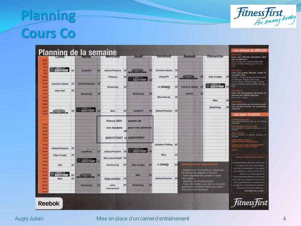 4Mise en place dun carnet dentraînementAugry Julian Planning Cours Co