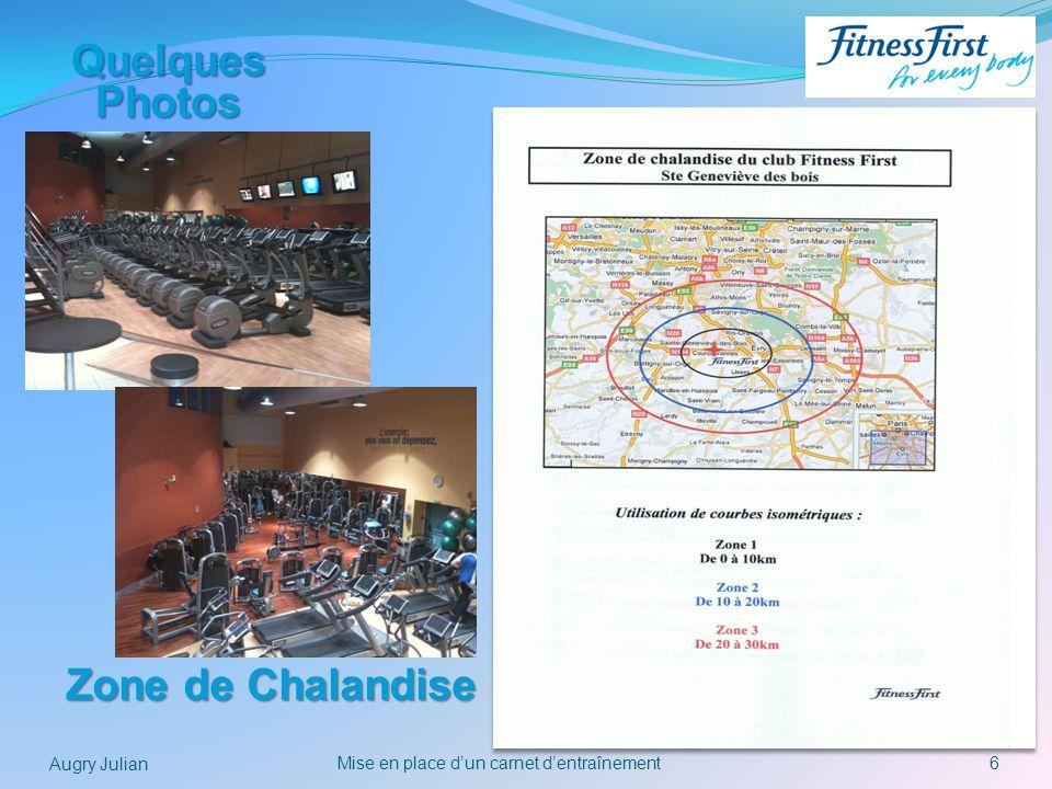 6Mise en place dun carnet dentraînement Augry Julian Quelques Photos Zone de Chalandise