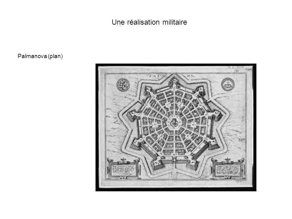 Une réalisation militaire Palmanova (plan)