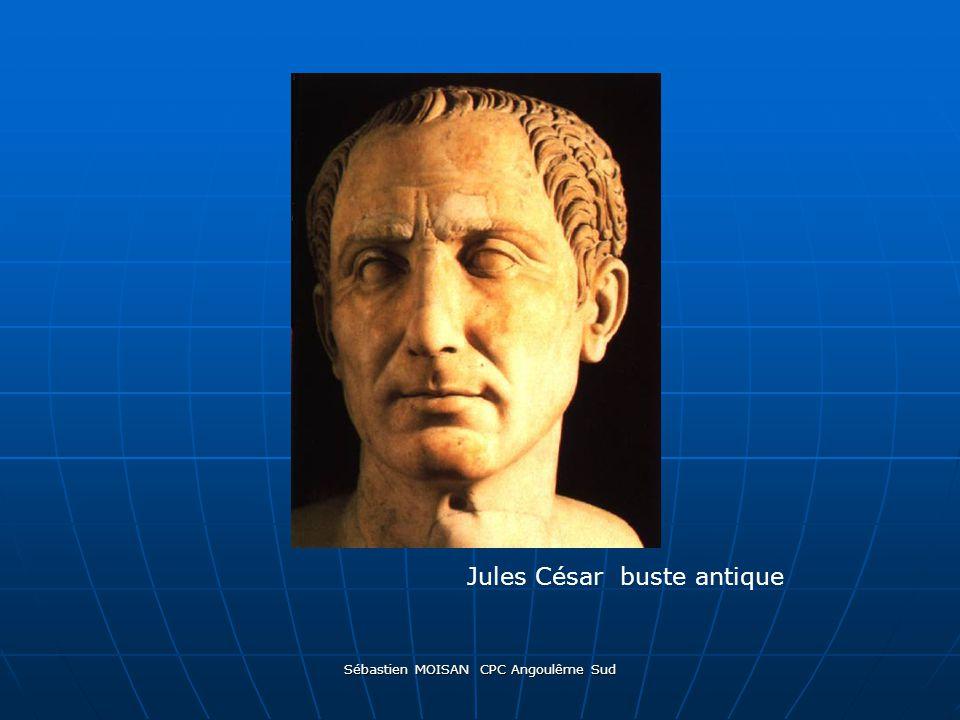 Sébastien MOISAN CPC Angoulême Sud Jules César buste antique
