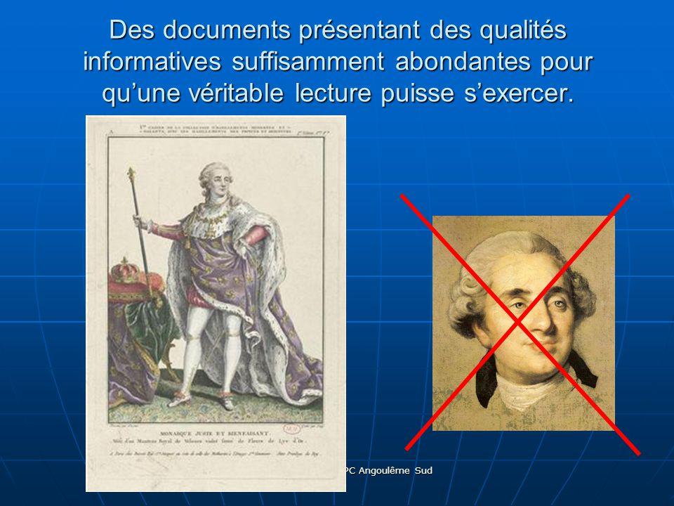 Sébastien MOISAN CPC Angoulême Sud Des documents présentant des qualités informatives suffisamment abondantes pour quune véritable lecture puisse sexercer.
