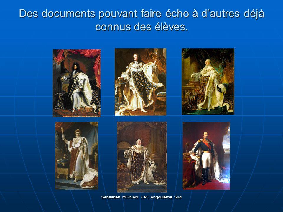 Sébastien MOISAN CPC Angoulême Sud Des documents pouvant faire écho à dautres déjà connus des élèves.