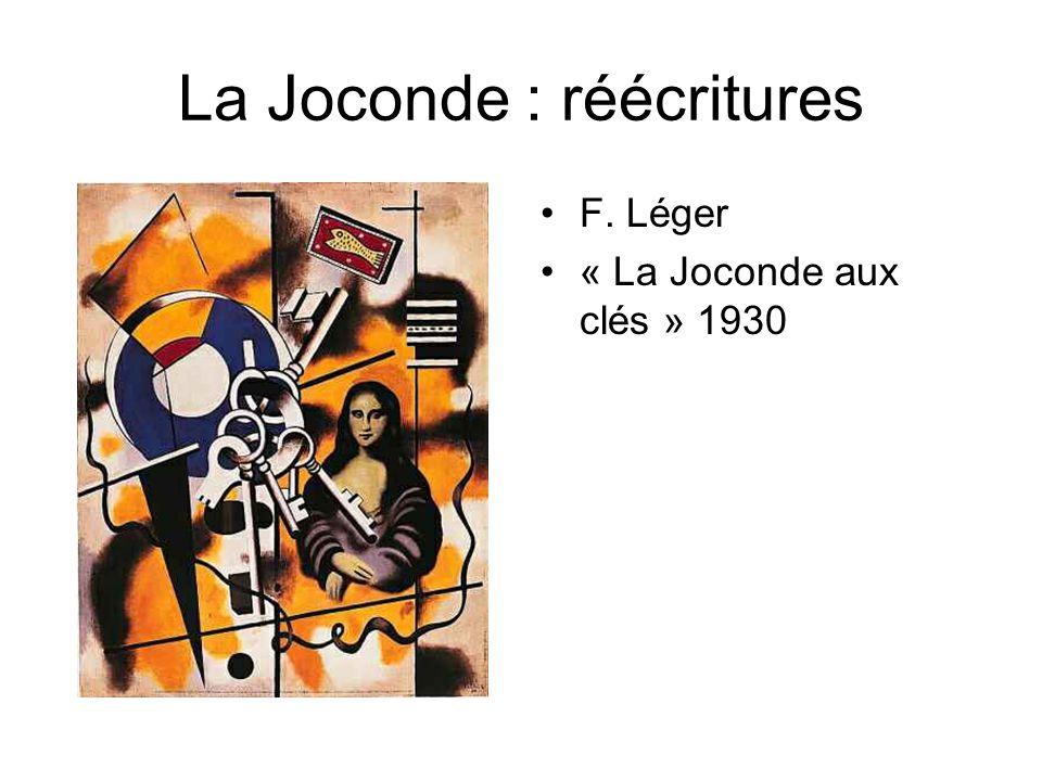 La Joconde : réécritures F. Léger « La Joconde aux clés » 1930