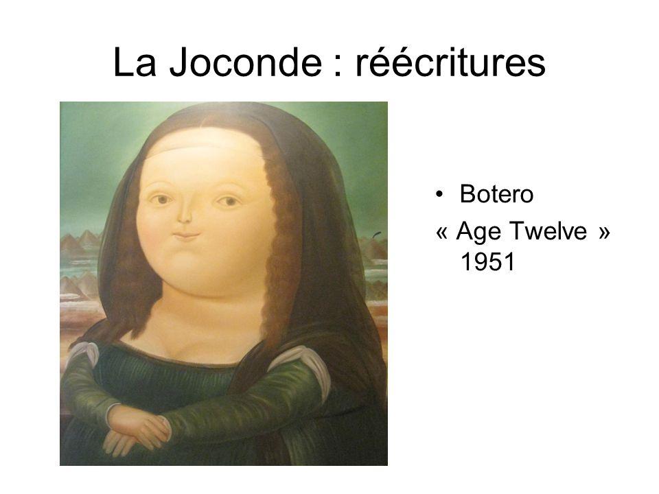 La Joconde : réécritures Botero « Age Twelve » 1951