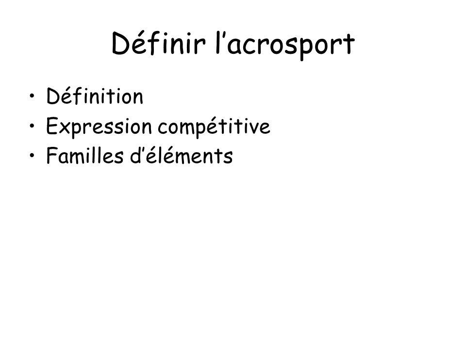 Définir lacrosport Définition Expression compétitive Familles déléments