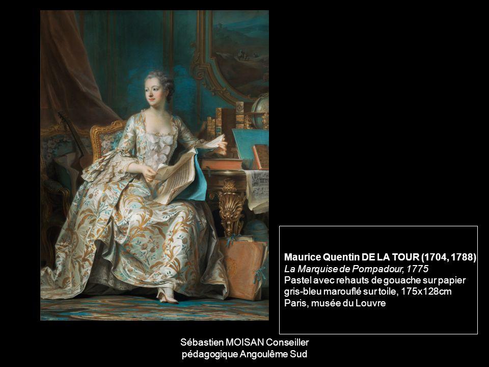 Maurice Quentin DE LA TOUR (1704, 1788) La Marquise de Pompadour, 1775 Pastel avec rehauts de gouache sur papier gris-bleu marouflé sur toile, 175x128cm Paris, musée du Louvre