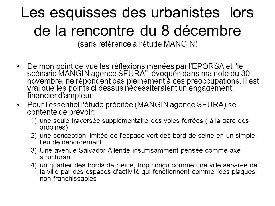 Quelques questions sur létude MANGIN et le document de novembre 2009