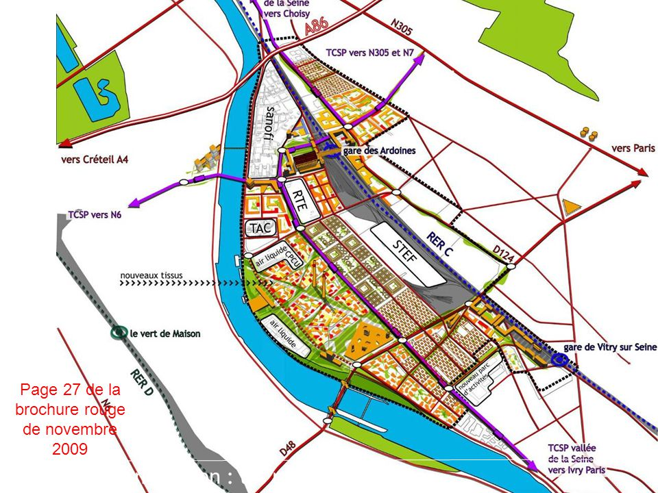 plateforme énergétique gare multimodale des Ardoines : RER C+, Orbival, TCSP pôle bio-technologies nouveau franchissement de Seine