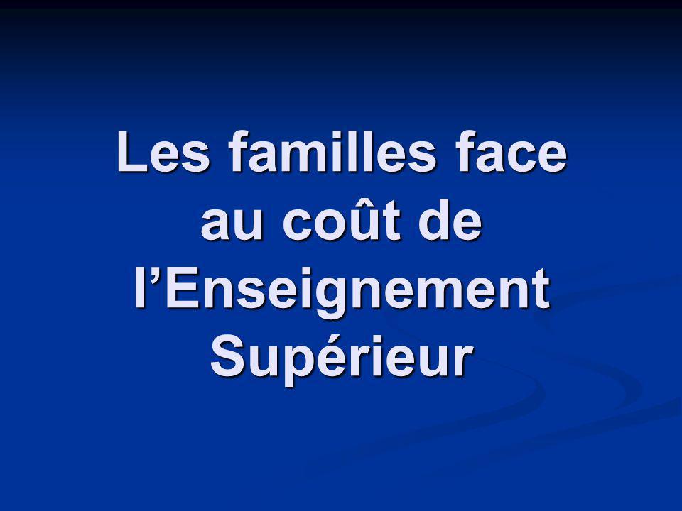 Les familles face au coût de lEnseignement Supérieur