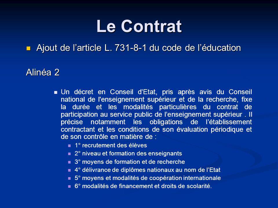 Le Contrat Ajout de larticle L.