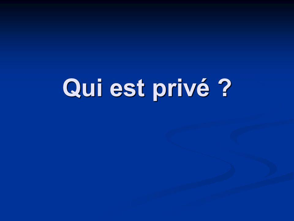 Qui est privé ?