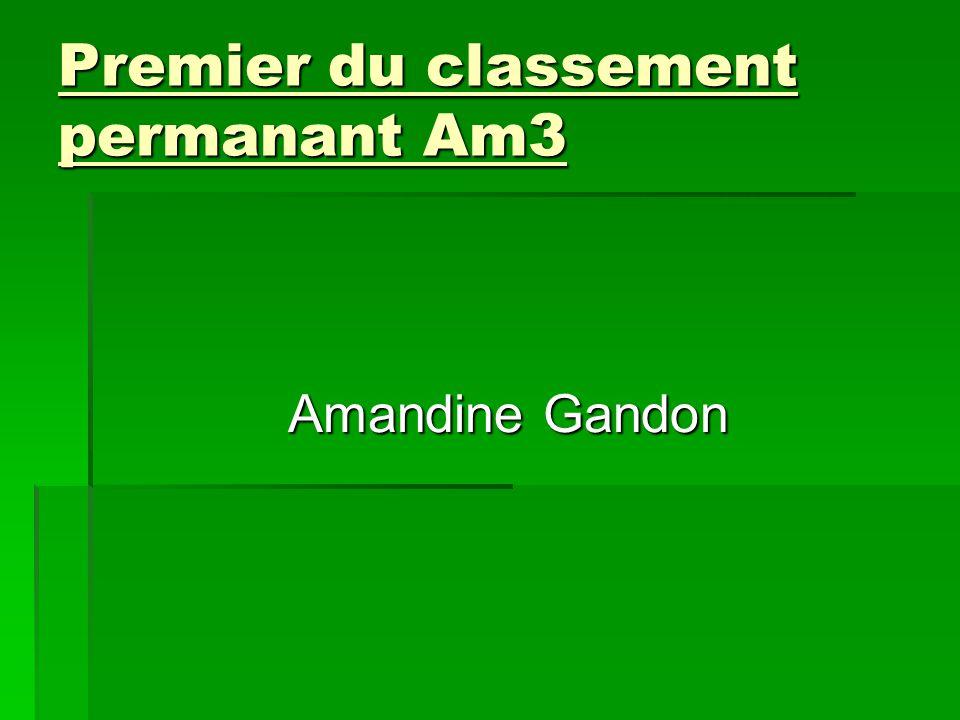Premier du classement permanant Am3 Amandine Gandon
