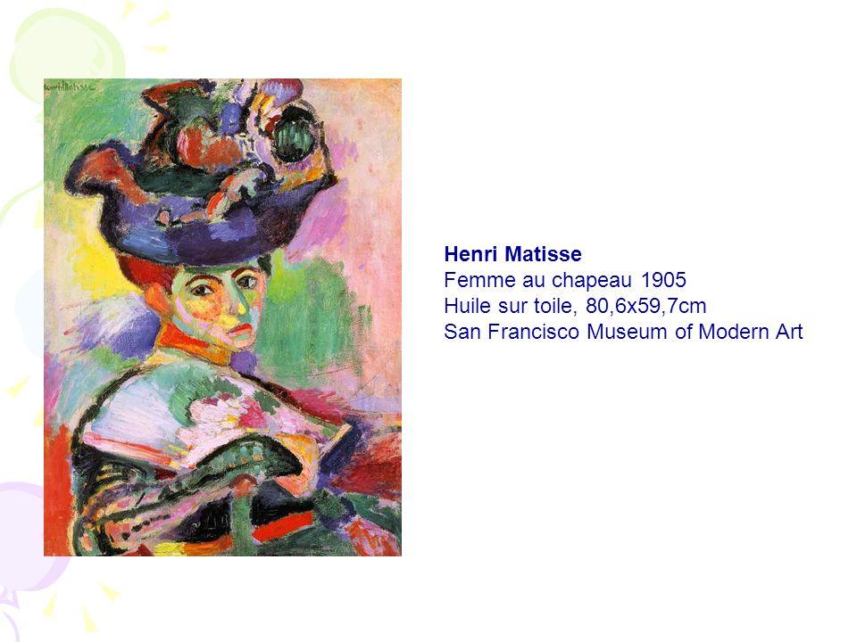 Henri Matisse Femme au chapeau 1905 Huile sur toile, 80,6x59,7cm San Francisco Museum of Modern Art