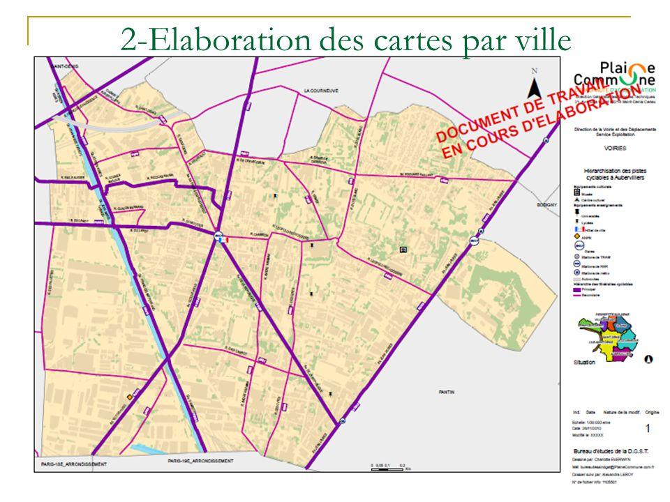 2-Elaboration des cartes par ville