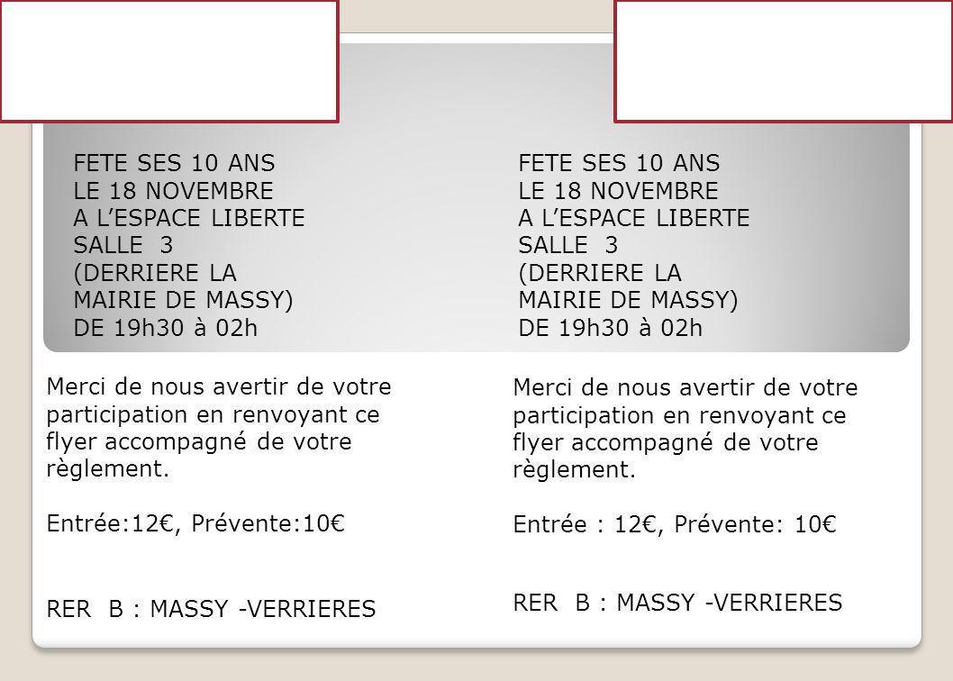 POUR MONDE ET POUR LA PAIX FETE SES 10 ANS LE 18 NOVEMBRE A LESPACE LIBERTE SALLE 3 (DERRIERE LA MAIRIE DE MASSY) DE 19h30 à 02h RER B : MASSY -VERRIE