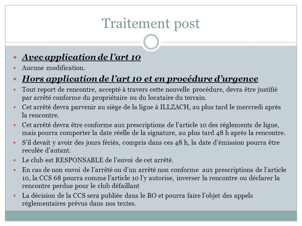 Traitement post Avec application de lart 10 Aucune modification.