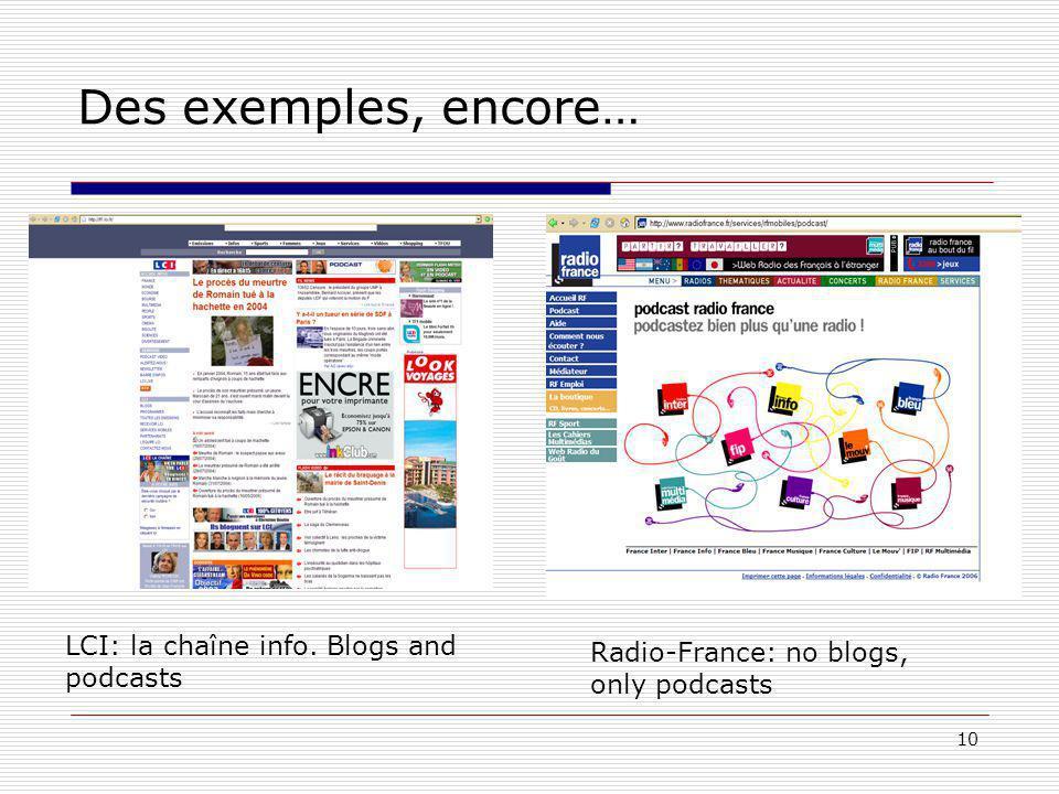10 Des exemples, encore… LCI: la chaîne info.