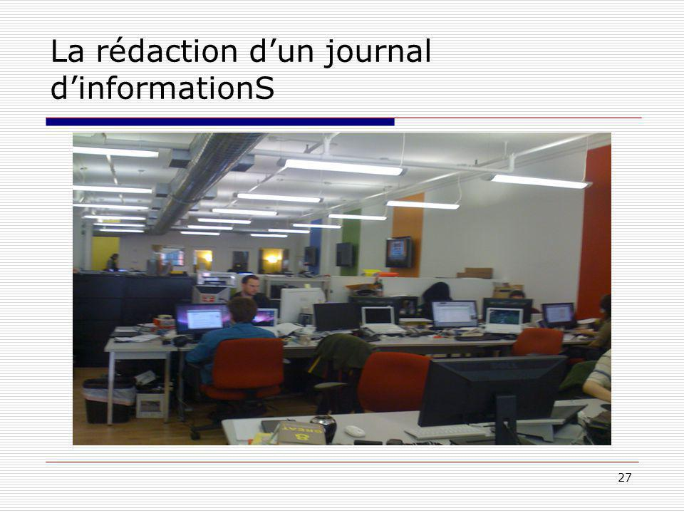 27 La rédaction dun journal dinformationS