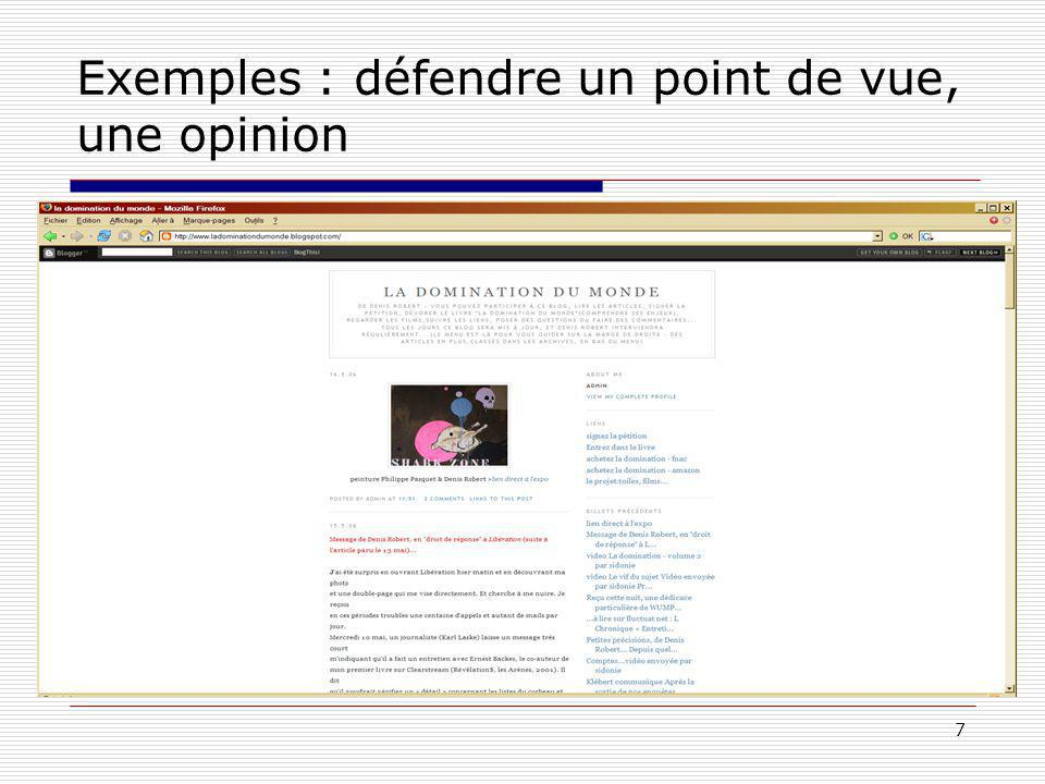 7 Exemples : défendre un point de vue, une opinion