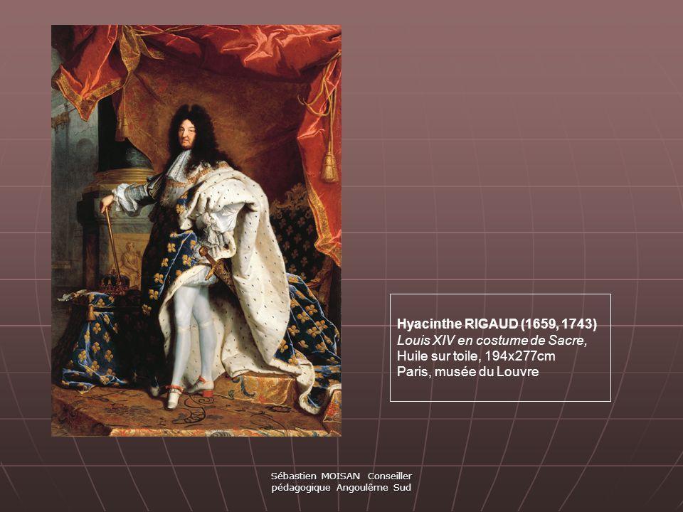 Hyacinthe RIGAUD (1659, 1743) Louis XIV en costume de Sacre, Huile sur toile, 194x277cm Paris, musée du Louvre