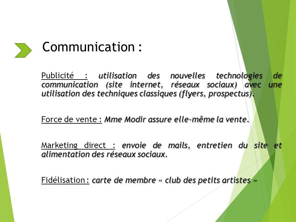 Communication : utilisation des nouvelles technologies de communication (site internet, réseaux sociaux) avec une utilisation des techniques classique