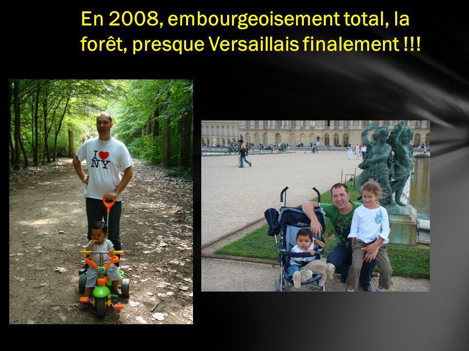 En 2008, embourgeoisement total, la forêt, presque Versaillais finalement !!!